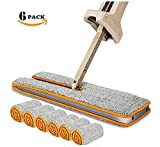 Double Sided Mop, Self Wringing Lazy Mop Professional 360 Automatic Squeezee Microfiber Flip Mop for Wet & Dry Hardwood Cleaning by Rambling (YE)