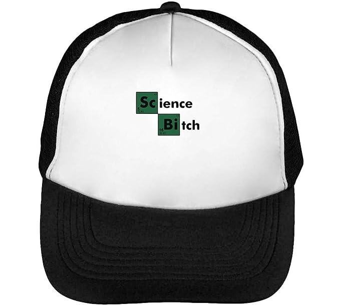 Science Bitch Cool Periodic Element Gorras Hombre Snapback Beisbol Negro Blanco: Amazon.es: Ropa y accesorios