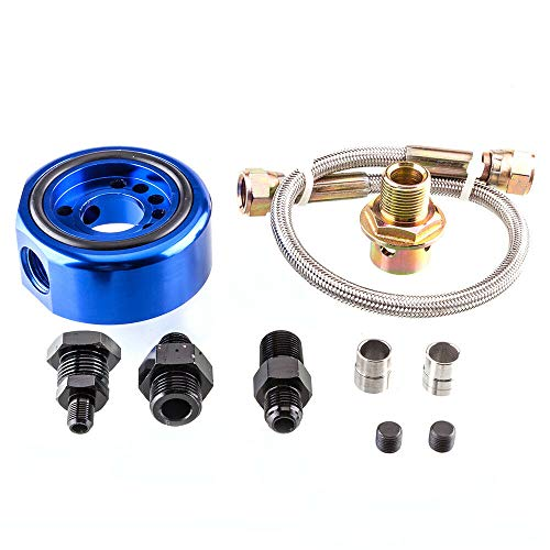 - Machine Supplies Adapter Sandwich Set VTEC Head Conversion Kit Compatible for Acura Honda LS / B20 Blue