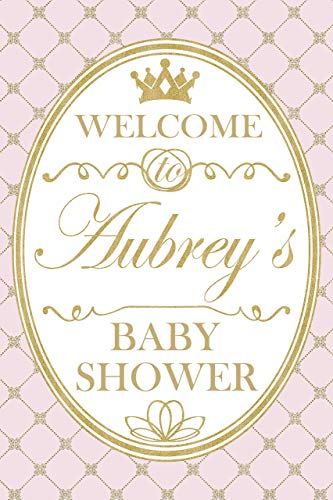 Princess Baby Shower Welcome Sign, Royal Crown, Gold Tiara, Welcome Party Sign, Baby Shower Decoration, Gender Reveal Poster, Party Gift Ideas, Party Supply Poster Print Size 24x36, 24x18]()