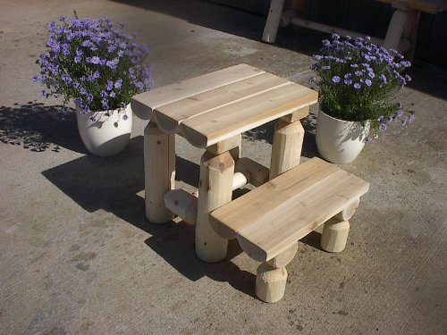 White Cedar Log Step Stool by Furniture Barn USA
