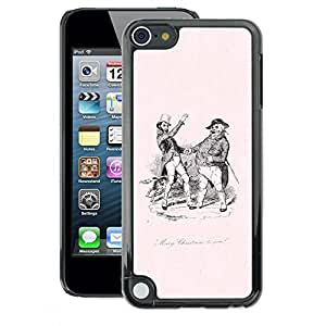 A-type Arte & diseño plástico duro Fundas Cover Cubre Hard Case Cover para Apple iPod Touch 5 (Old Black White Pink 19 Century)