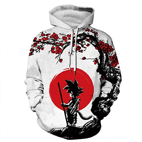 CHENMA Men Dragon Ball Z 3D Print Pullover Hoodie Sweatshirt with Kangaroo Pocket (Color 8, Tag 3XL/US XXL) -