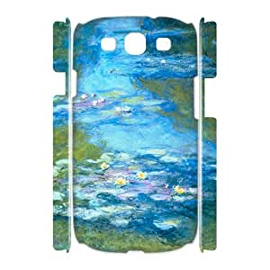 Chinese Lotus pond Art DIY 3D Cell Phone Case for Samsung Galaxy S3 I9300,customized Chinese Lotus pond Art Phone Case