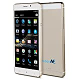 """Padgene Vogue 6"""" Android 4.4.2 Unlocked Smartphone, Dual Core / Sim 3G GSM Touchscreen Smartphone, Gold"""