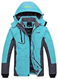 Wantdo Women's Mountain Waterproof Fleece Ski Jacket Windproof Rain Jacket