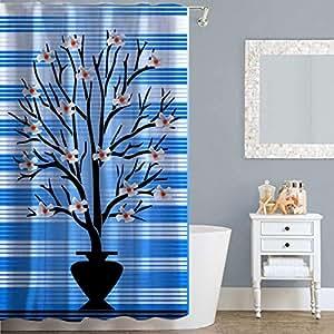 Right Canvas Multi Color 180cm x 200cm Shower Curtain - RG138NPFL00073