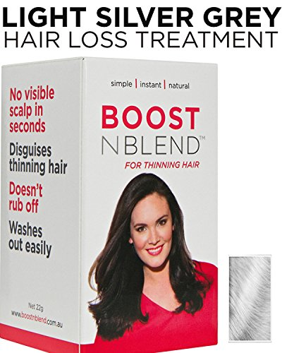 BOOSTnBLEND Light Silver Grey Hair Loss Concealer for Women with Hair Loss. Covers up Visible Scalp for Women with Visible Thinning Hair 22g/0.78oz