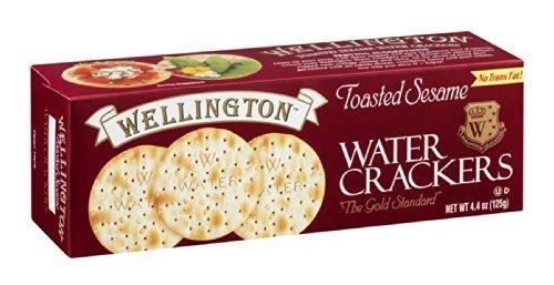 WELLINGTON CRACKER WTR SESAME, 4.4 OZ by Wellington