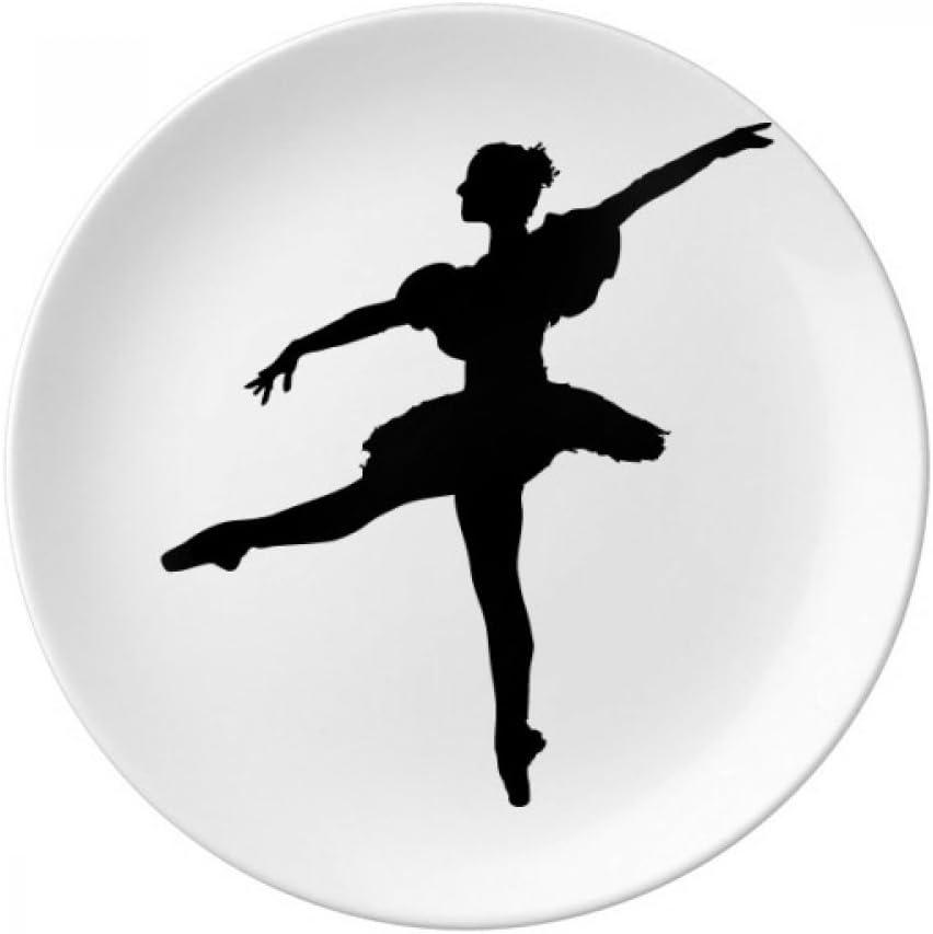 DIYthinker bailar/ín de la Danza del Ballet Arte Deportes Decorativo de Porcelana Placa de Postre de 8 Pulgadas del hogar del Regalo Cena 21cm de di/ámetro