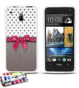 Carcasa Flexible Ultra-Slim HTC ONE MINI (M4) de exclusivo motivo [Pin up rosa] [Blanca] de MUZZANO  + ESTILETE y PAÑO MUZZANO REGALADOS - La Protección Antigolpes ULTIMA, ELEGANTE Y DURADERA para su HTC ONE MINI (M4)