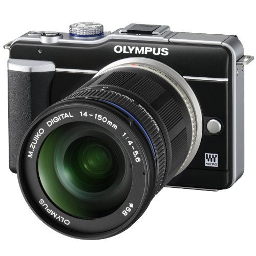 Olympus PEN E-PL1 12.3MP Live MOS Micro Four Thirds Interchangeable Lens Digital Camera with ED 14-150mm f/4.0-5.6 micro Four Thirds Zoom Lens