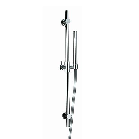 SUMERAIN Round Single Function Adjustable Shower Riser Rail Kit Chrome(Riser  Rail, Shower Hose