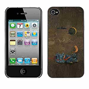 Shell-Star ( Abstract Painting ) Snap On Hard Protective Case For Apple iPhone 4 / 4S