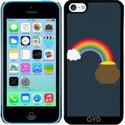 Coque pour Iphone 5c - Arc En Ciel D'or by ilovecotton