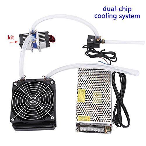 DIY 144W Dual-chip Thermoelectric Peltier Refrigeration TEC1-12706 Cooler with Water Cooling System (Cooler Kit) by Walfront (Image #4)