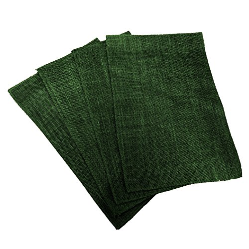 Placemat Paper Hunter (LA Linen Pack of 4 Dyed Natural Burlap Placemats 12 by 18-Inch, Hunter Green)