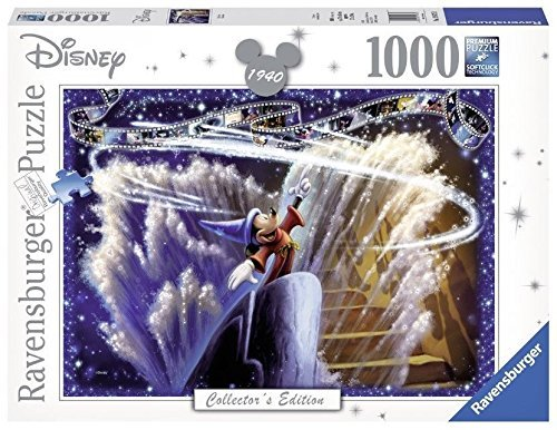 Limited Edition Jigsaw - Disney Masterpiece 1940 Retro Limited Edition Mickey Sorcerer 1000 Piece Professional Soft Click Jigsaw Ages 12+