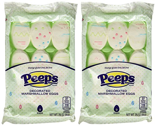 - Peeps Decorated Marshmallow Eggs Easter Candy (PACK OF 2)