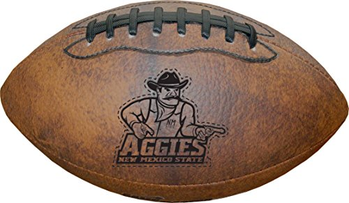 NCAA New Mexico State Aggies Vintage Throwback Football, 9-Inches