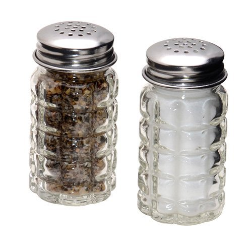 (1st Choice 4562 FBA_BCK31360 Retro Style Salt and Pepper Shakers with Stainless Tops (2), 1, Original Version)