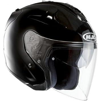 HJC 14113007 Casco de Moto, Negro Metal, Talla S