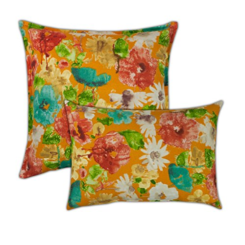 Sherry Kline Alcove Orange Combo Outdoor Pillow, Orange, Multi