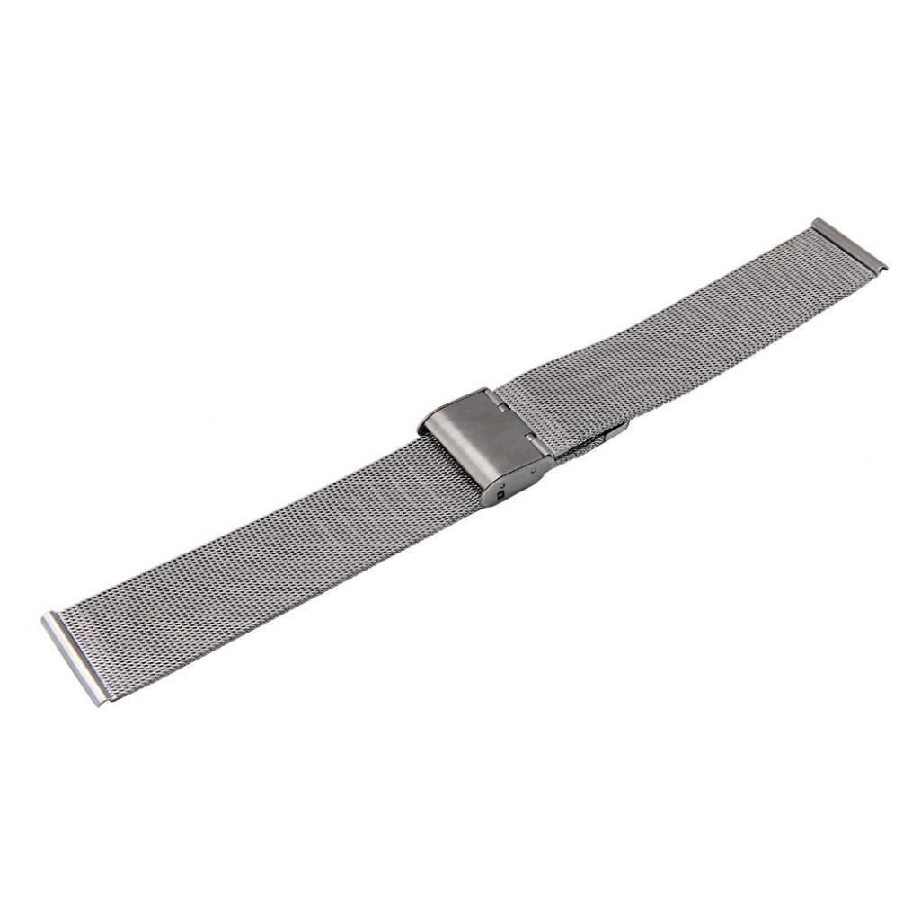 Malloom® Moda milanesa acero inoxidable de malla 18 mm Venda Reloj Pulsera Correa Repuesto (plata): Amazon.es: Relojes