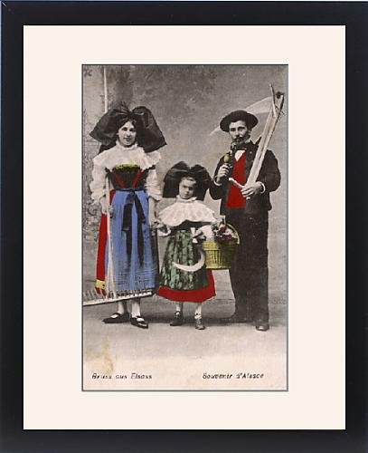 Framed Print of Folk in the traditional costume of Alsace Lorraine