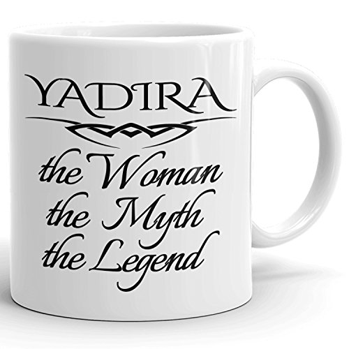 Best Personalized Womens Gift! The Woman the Myth the Legend - Coffee Mug Cup for Mom Girlfriend Wife Grandma Sister in the Morning or the Office - Y Set 1