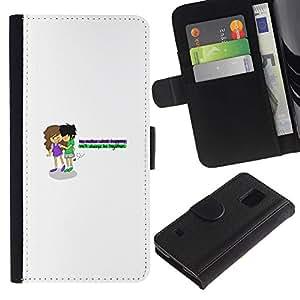 KLONGSHOP // Tirón de la caja Cartera de cuero con ranuras para tarjetas - Amor de Young - Samsung Galaxy S5 V SM-G900 //