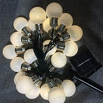 Bombilla Solar - Luz De La Secuencia Del Jardín Al Aire Libre, Bombilla LED 16ft / G50, Cadena De Luz Interior/Exterior, Terraza Jardín Fuera De Las Luces De Navidad (10*G50-Siempre encendido): Amazon.es: