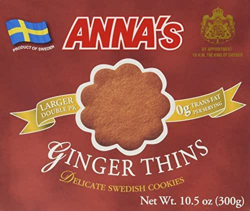 Annas Delicate Swedish Cookies, 10.5 Oz (Ginger Thins)