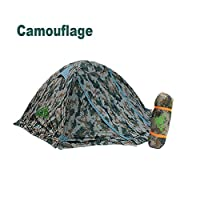 RioRand Double Layer 2 Person 4 Season Aluminum Rod Outdoor Camping Tent Topwind 2 Plus with Snow Skirt (SKY BLUE) from RioRand