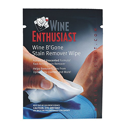 Wine Enthusiast B'Gone Ultra Stain Remover Travel Wipes (Set of 12)