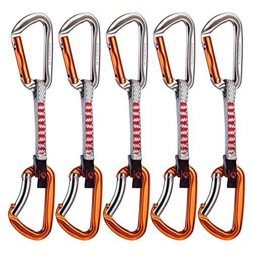 Mammut 5-er Wall Key Lock Express Set silver/orange Straight Gate/Bent Gate 10 cm (Key Lock Straight Gate)