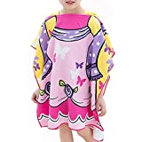 GUIGU Hooded Towels for Kids Cotton Bath Wrap Swimsuit Bathrobe,Use for Bath/Pool/ Beach Times(Purple)