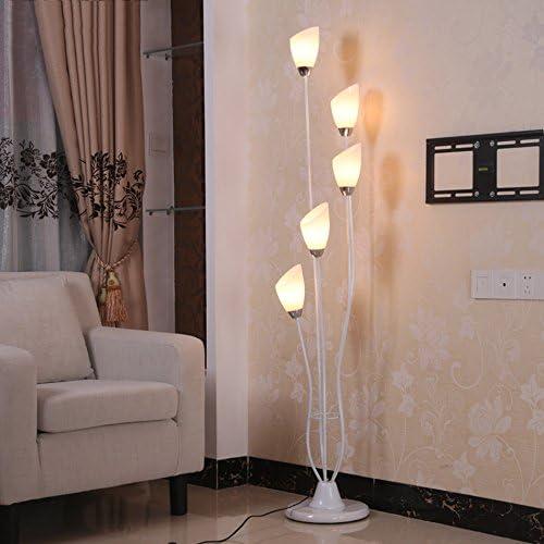A-ZHP & Lámparas de pie Lámpara de pie, Vidrio Ligero Interior Simple Mesa de Centro Moderna Dormitorio Salón Lámpara de pie Vertical del Arte Decorativo Piano luz (Color : A): Amazon.es: Hogar