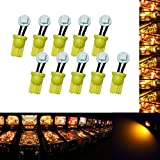 PA 10PCS #555 T10 1SMD LED Wedge Pinball Machine Light Side View Bulb Yellow(Orange/ Amber)-6.3V