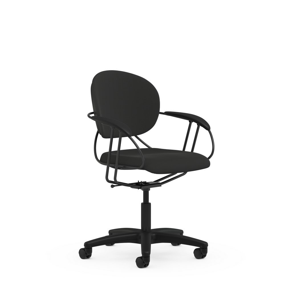 Uno Multipurpose Chair: Mid Back - Buzz2 Black - Hard Floor Casters