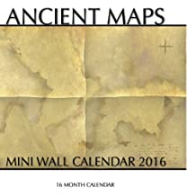 Ancient Maps Mini Wall Calendar 2016: 16 Month Calendar