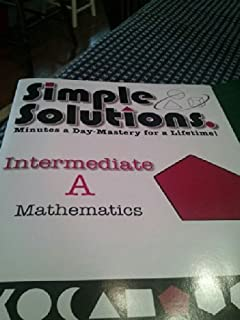 Simple solutions math level 3 nancy l mcgraw 9780972873000 simple solutions minutes a day mastery for a lifetime intermediate a fandeluxe Images