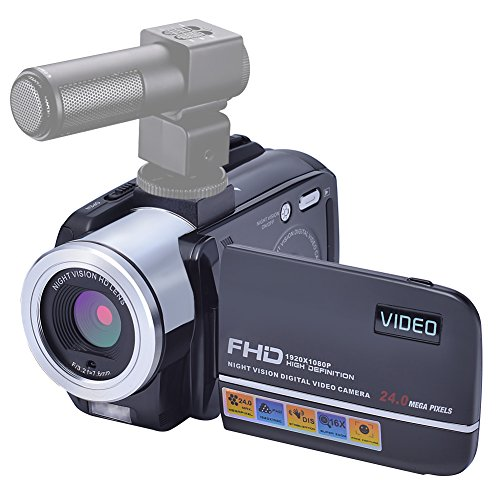 Camcorder Video Camera 24MP Digital Camera Full HD 1080p Vlo