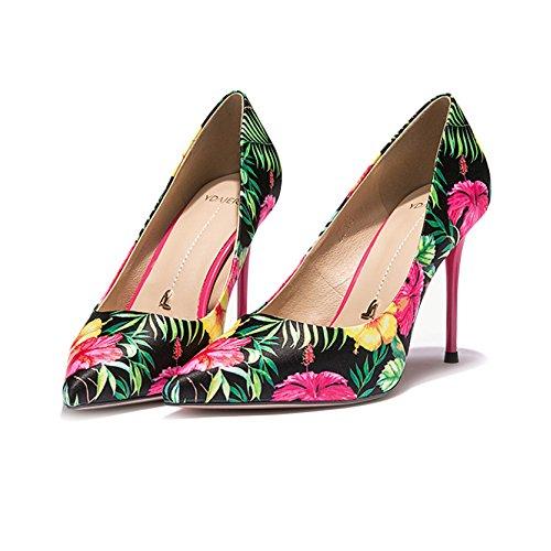 Yra Red Fine Pour Vintage Automne Chaussures Femmes Chaussures Fête Printemps Nouveaux Femmes Talons Hauts Talon Sauvage Conseils qFqaPr6