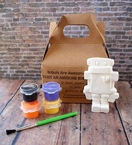 DIY Robot Paint Kit Paint Your Own Robot Kids Craft Ages 6 and up from RobotsAreAwesome