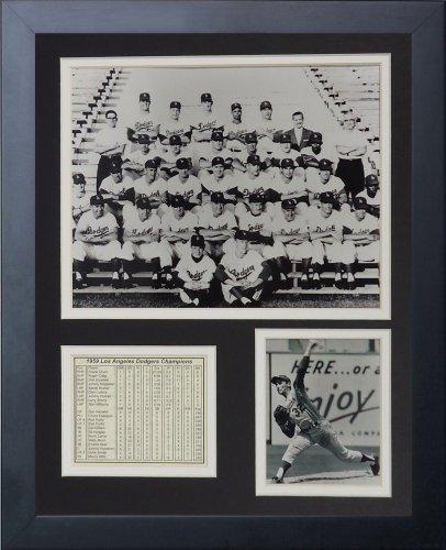 "Legenden Sterben Nie ""1959 Los Angeles Dodgers"" gerahmtes 11 Foto Collage, 11 gerahmtes x 35,6 cm von Legends Never Die 599638"