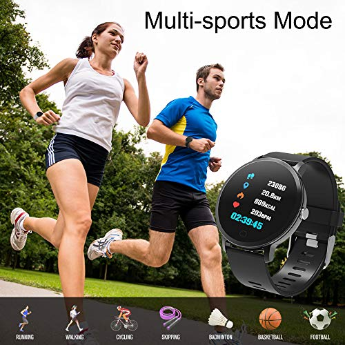 BingoFit Epic Fitness Tracker Smart Watch, Activity Tracker with Heart Rate Monitor, Waterproof Pedometer Watch with Sleep Monitor, Step Counter for Kids