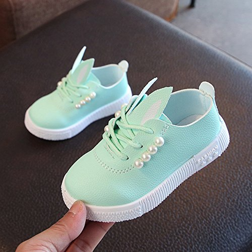 Baby Princess With pelle Coniglio decordones bbsmile Girl Ears in Shoes artificiale verde HqnAHtxr