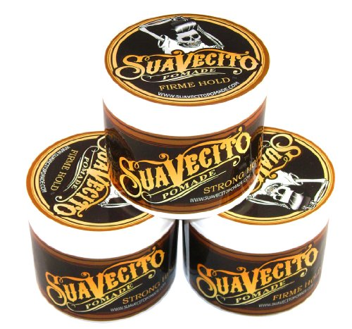 Price comparison product image Suavecito Pomade Firme (Strong) Hold 4 oz (Pack of 3)