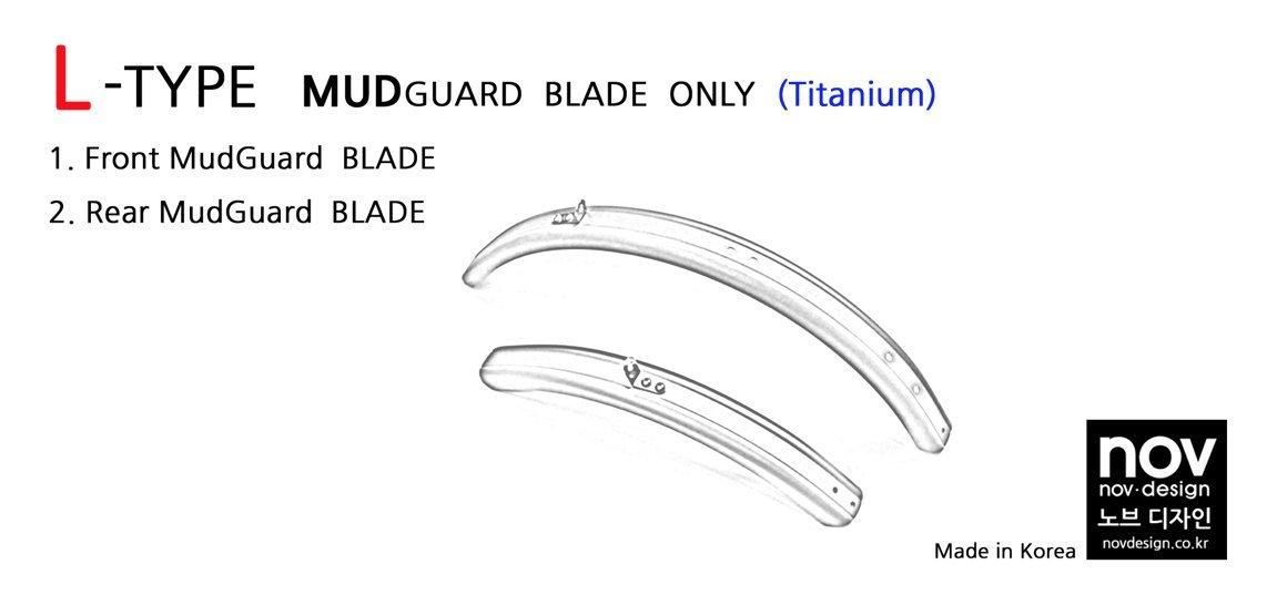 Nov L-Type titanium mudguard sets for Brompton Folding Bike - Dino Kiddo
